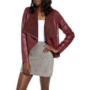Vegan Leather On To The Next Zippered Drape Jacket
